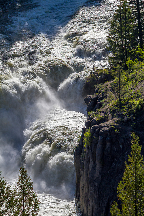 Lower Mesa Falls was a gushing 65ft waterfall on the Henry's Fork of the Snake River that was just downstream from the more accessible Upper Mesa Falls.  Licensing and Open Edition Prints