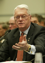 Mar 17, 2005; Washington, DC, USA; Senator JIM BUNNING (R-KY) speaks during a hearing by the the House Government Reform Committee on the use of steroids in baseball, on Capitol Hill in Washington, DC.