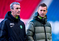 01/02/15 SCOTTISH LEAGUE CUP SEMI-FINAL<br /> CELTIC v RANGERS<br /> HAMPDEN - GLASGOW<br /> Celtic manager Ronny Deila (right) with Jim McGuinness