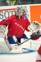Ishockey<br /> VM 2015<br /> Russland v Norge 6:2<br /> 01.05.2015<br /> Foto: imago/Digitalsport<br /> NORWAY ONLY<br /> <br /> Goalie Lars Volden (NOR)