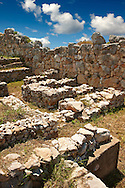 Tiryns (  or ) Mycenaean city archaeological site,  Peloponnesos, Greece. A UNESCO World Heritage Site .<br /> <br /> If you prefer to buy from our ALAMY PHOTO LIBRARY  Collection visit : https://www.alamy.com/portfolio/paul-williams-funkystock/tiryns-mycenaean-site.html to refine search type subject etc into the LOWER SEARCH WITHIN GALLERY <br /> <br /> Visit our ANCIENT GREEKS PHOTO COLLECTIONS for more photos to download or buy as wall art prints https://funkystock.photoshelter.com/gallery-collection/Ancient-Greeks-Art-Artefacts-Antiquities-Historic-Sites/C00004CnMmq_Xllw