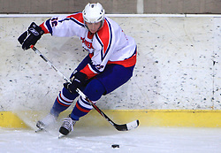 Jan Urbas at friendly ice-hockey game between Slovenian National Team U20 and HKMK Bled, before World Championship Division 1, Group A in Herisau, Switzerland, on December 11, 2008, in Bled, Slovenia. (Photo by Vid Ponikvar / Sportida)