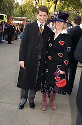 COUNT & COUNTESS MANFREDIE DELLA GHERARDESCA at the wedding of Clementine Hambro to Orlando Fraser at St.Margarets Westminster Abbey, London on 3rd November 2006.<br />