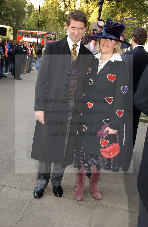 COUNT & COUNTESS MANFREDIE DELLA GHERARDESCA at the wedding of Clementine Hambro to Orlando Fraser at St.Margarets Westminster Abbey, London on 3rd November 2006.<br /><br />NON EXCLUSIVE - WORLD RIGHTS