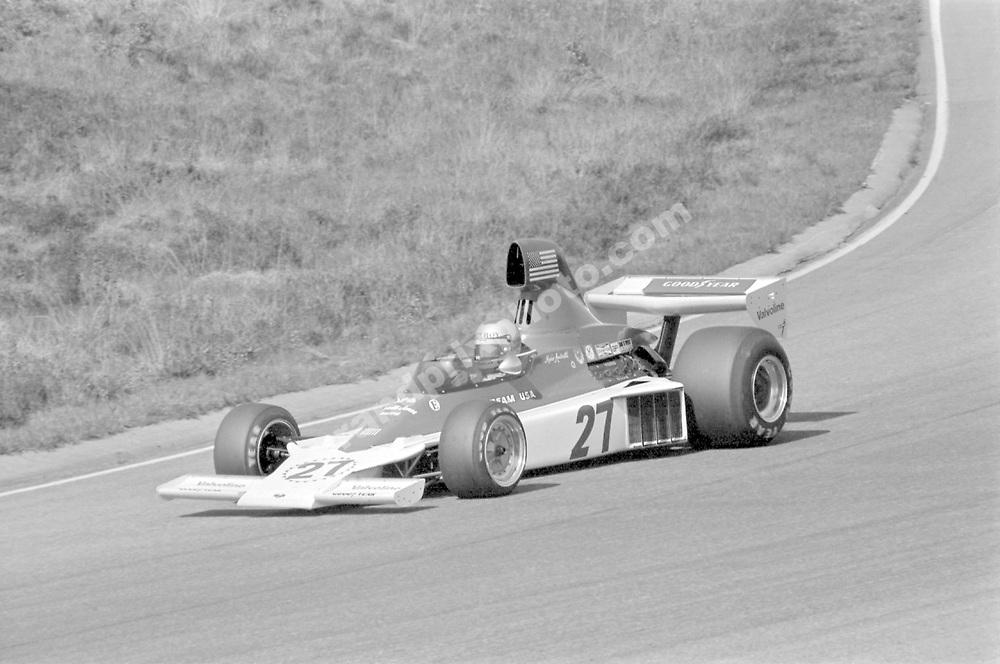 Mario Andretti (Parnelli-Ford) in the 1975 Swedish Grand Prix in Andrstorp. Photo: Grand Prix Photo