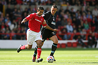 Photo: Pete Lorence.<br />Nottingham Forest v Scunthorpe United. Coca Cola League 1. 07/10/2006.<br />Forest's Jack Lester tries to evade Andy Crosby.
