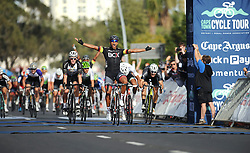 Cape Town - 180311 - Team BCX's Nolan Hoffman wins the Cape Town Cycle Tour at the Cape Town Stadium today. Photographer: David Ritchie/African News Agency/ANA