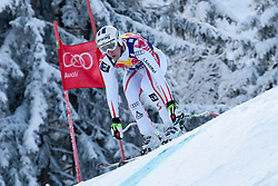KITZBUHEL AUSTRIA. 22-01-2011. Werner Heel (ITA) speeds down the course competing in the 71st Hahnenkamm downhill race part of  Audi FIS World Cup races in Kitzbuhel Austria.  Mandatory credit: Mitchell Gunn