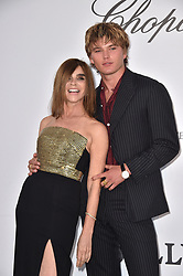 Carine Roitfeld and Jordan Barrett attend the amfAR Cannes Gala 2019 at Hotel du Cap-Eden-Roc on May 23, 2019 in Cap d'Antibes, France. Photo by Lionel Hahn/ABACAPRESS.COM