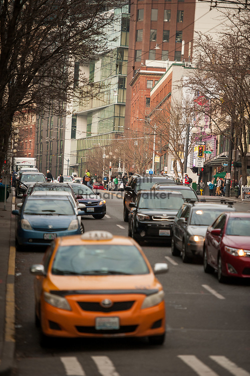 2017 DECEMBER 12 - View of 1st Ave near Pike Place Market, Seattle, WA, USA. By Richard Walker