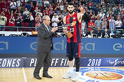 June 19, 2018 - Vitoria, Spain - Kirolbet Baskonia Tornike Shengelia during Liga Endesa Finals match (4th game) between Kirolbet Baskonia and Real Madrid at Fernando Buesa Arena in Vitoria, Spain. June 19, 2018. (Credit Image: © Coolmedia/NurPhoto via ZUMA Press)