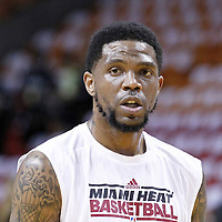 19 June 2012: Miami Heat power forward Udonis Haslem (40) warms up prior to the Miami Heat 104-98 victory over the Oklahoma City Thunder, in Game 4 of the 2012 NBA Finals, at the AmericanAirlinesArena, Miami, Florida, USA.