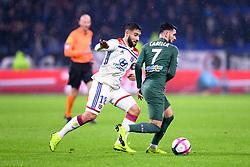 November 23, 2018 - Lyon, France - 18 NABIL FEKIR (OL) - 07 REMY CABELLA  (Credit Image: © Panoramic via ZUMA Press)
