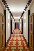 Refurbished Corridor showing new paintwork lighting, & carpet