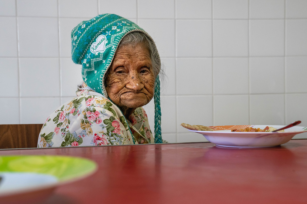 American volunteers spend time at the Old folks home in Santa Rosa de Copan, Copan on Friday, Mar 3, 2020.     Photo by Ken Cedeno