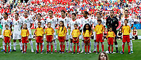 GEPA-1106086486 - GENF,SCHWEIZ,11.JUN.08 - FUSSBALL - UEFA Europameisterschaft, EURO 2008, Tschechien vs Portugal, CZE vs POR. Bild zeigt Nuno Gomes, Petit, Pepe, Joao Moutinho, Ricardo Carvalho, Paulo Ferreira, Simao Sabrosa, Jose Bosingwa, Deco, Ricardo, und Cristiano Ronaldo (POR). Keywords: Kinder, Fussballeskorte, Mannschaft, Mannschaftsfoto.<br />Foto: GEPA pictures/ Christian Ort