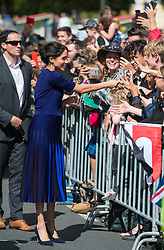 The Duchess of Sussex during a walkabout in Rotorua on day four of the royal couple's tour of New Zealand.