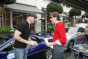ERIK HOOPINGARNER AND HUD MORGAN , De Grisogono & Londino Car Rally  setting off from the Bluebird Building. King's Rd. London. 23 August 2007. Car rally which takes drivers through London, France, Switzerland and finally to Portofino .  -DO NOT ARCHIVE-© Copyright Photograph by Dafydd Jones. 248 Clapham Rd. London SW9 0PZ. Tel 0207 820 0771. www.dafjones.com.