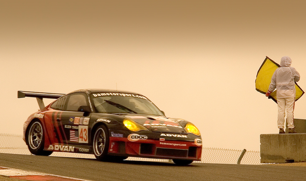 Porsche 911 at Luguna Seca, ALMS race Oct 15, 2005