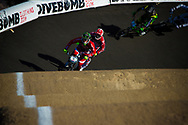 #11 (FIELDS Connor) USA and  #91 (WILLOUGHBY Sam) AUS at the 2013 UCI BMX Supercross World Cup in Chula Vista