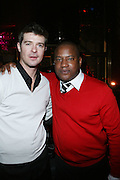 l to r: Robin Thicke and Greg Cunnigham at the Robin Thicke?s Album Release ' Something Else' with Exclusive Event at Rainbow Room sponsored by Target on September 20, 2008 in New York City.