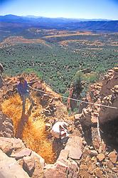 Richard Lang Taking Measurements, Mustang Ridge, Apache Reservation