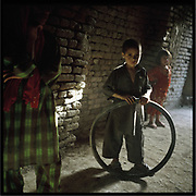 Children playing in an old city in Kabul.