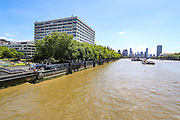 St Thomas' Hospital overlooks a near-deserted River Thames from the Westminster Bridge in London, England, on Monday, June 22, 2020. (Photo/Vudi Xhymshiti)