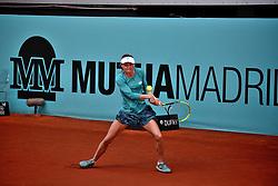 May 4, 2019 - Madrid, Spain - Aliaksandra Sasnovich (BLR) vs Anett Kontaveit (EST) during day one of the Mutua Madrid Open at La Caja Magica  in Madrid on 4th May, 2019. (Credit Image: © Juan Carlos Lucas/NurPhoto via ZUMA Press)