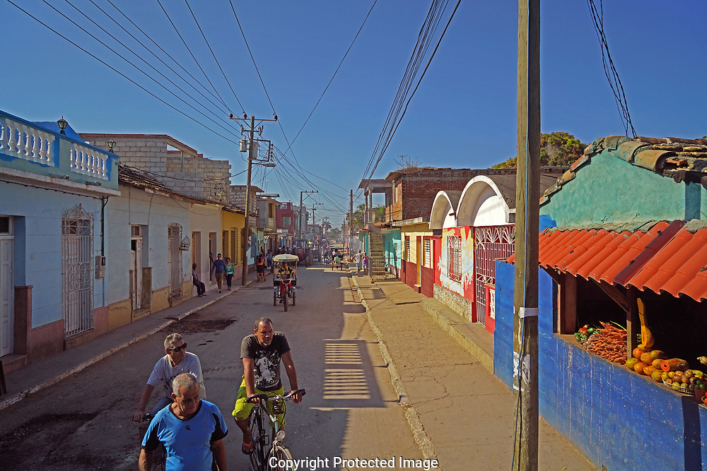 A street scene in Trinidad, Cuba<br /> Photo by Dennis Brack