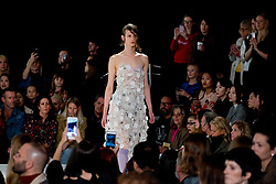 Models on the catwalk during the Preen by Thornton Bregazzi London Fashion Week SS18 show held at QEII Centre, London