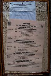 10-09-2017 FRA: BvdGF Tour du Mont Blanc day 1, Beaufort <br /> Vandaag vertrekken we vanuit Papendal in Arnhem naar naar het plaatsje Beaufort (nabij Chamonix) in Frankrijk / Dorpje Beaufort, start van de Tour du Mont Blanc
