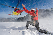 Glacier crevasse rescue training with the Tyrolean Mountain Rescue Service.