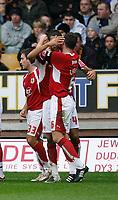 Photo: Steve Bond/Sportsbeat Images.<br />Wolverhampton Wanderers v Bristol City. Coca Cola Championship. 03/11/2007. Liam Fontaine celebrates