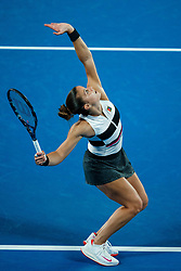 January 19, 2019 - Melbourne, VIC, U.S. - MELBOURNE, VIC - JANUARY 18: MARIA SAKKARI (GRE) (AUS) during day five match of the 2019 Australian Open on January 18, 2019 at Melbourne Park Tennis Centre Melbourne, Australia (Photo by Chaz Niell/Icon Sportswire) (Credit Image: © Chaz Niell/Icon SMI via ZUMA Press)