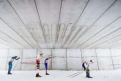 January 6, 2018 - Val Di Fiemme, ITALY - 180106 Maurice Magnificat of France, Niklas Dyrhaug of Norway, Andrew Musgrave of Great Britain and Jens Burman of Sweden compete in men's 15km mass start classic technique during Tour de Ski on January 6, 2018 in Val di Fiemme..Photo: Jon Olav Nesvold / BILDBYRN / kod JE / 160123 (Credit Image: © Jon Olav Nesvold/Bildbyran via ZUMA Wire)