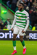 GOAL! - Odsonne Edouard of Celtic FC celebrates his goal during the Europa League match between Celtic and FC Copenhagen at Celtic Park, Glasgow, Scotland on 27 February 2020.