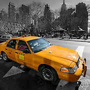 Bryant Square cab BW, New York, United States (March 2005)