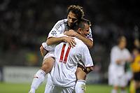 FOOTBALL - UEFA CHAMPIONS LEAGUE 2009/2010 - 1/2 FINAL - 2ND LEG - OLYMPIQUE LYONNAIS v BAYERN MUNCHEN - 27/04/2010 - PHOTO JEAN MARIE HERVIO / DPPI - JOY BAYERN AFTER 2ND GOAL