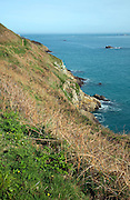 Coastline south east of the Island of Herm, Channel Islands, Great Britain