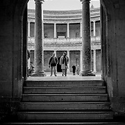 Entry to Palace of Charles V, Granada, Spain (December 2006)