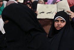 January 2, 2018 - Gaza, Palestinian Territories, Palestine - Palestinian employees of Gaza strip hold banners during a protest demanding their rights, in Gaza city,on January 2, 2018. (Credit Image: © Majdi Fathi/NurPhoto via ZUMA Press)