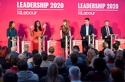© Licensed to London News Pictures. 01/02/2020. Bristol, UK.The Labour Party Deputy Leadership Hustings, at Ashton Gate Stadium. Deputy Leadership Candidates: Dr Rosena Allin-Khan, Dawn Butler, Angela Rayner, Richard Burgon, Ian Murray. Photo credit: Simon Chapman/LNP.