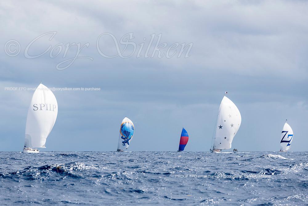 The Superyacht Challenge, Antigua fleet, day one.