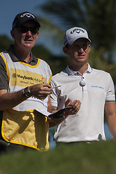 February 3, 2018 - Shah Alam, Kuala Lumpur, Malaysia - Chris Paisley is seen twith his caddie on day 3 at the Maybank Championship 2018...The Maybank Championship 2018 golf event is being hosted on 1st to 4th February at Saujana Golf & Country Club. (Credit Image: © Faris Hadziq/SOPA via ZUMA Wire)