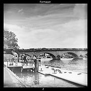Henley-On-Thames, Berkshire, UK., Thursday,  03/06/2021,  Women's Four, athletes, after docking at the Leander Club pontoon after on training outing on Henley Reach,[ Mandatory Credit © Peter Spurrier/Intersport Images],