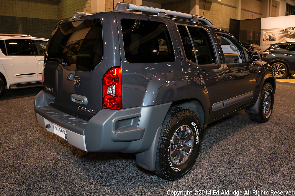 CHARLOTTE, NORTH CAROLINA - NOVEMBER 20, 2014: Nissan Xterra on display during the 2014 Charlotte International Auto Show at the Charlotte Convention Center.