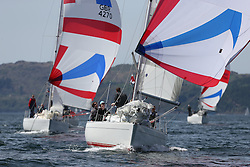 The Clyde Cruising Club's Scottish Series held on Loch Fyne by Tarbert. Day 2 racing in a perfect southerly..GBR8856Y ,Mayrise ,James Miller ,Helensburgh SC