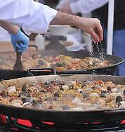 SLUG: Paella challenge-Photo request 56626-March 11, 2012-San Antonio, Texas---Chef's make paella during the Corona Paella Challenge at the Pearl Brewery Sunday.
