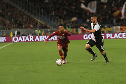 May 12, 2019 - Rome, Italy, Italy - (Justin Kluivert, Leonardo Spinazzola) At Stadio Olimpico, As Roma beat Juventus 2-0  with the goal of Alessandro Florenzi and Edin Dzeko (Credit Image: © Paolo Pizzi/Pacific Press via ZUMA Wire)